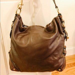 Brown Leather Coach Hobo Bag